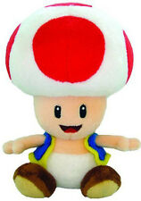 "Genuine  Little Buddy USA Nintendo Super Mario - 6"" Toad Stuffed Plush Doll"