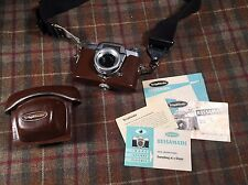 Voigtlander Bessamatic Vintage Camera With Case And Manuals