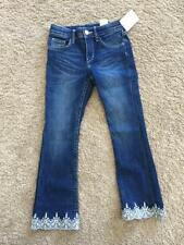 NWT NEW H&M HM H M Girls Bootcut Embroidery  Jeans 2 3