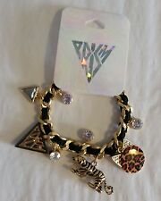 KATY PERRY for Claire's PRISM Tiger Charm ICONS Gold Bracelet SOLD OUT NWT NIP