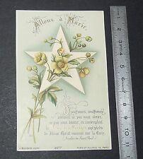 CHROMO 1890 IMAGE PIEUSE CATHOLICISME HOLY CARD PRIERE POUR VIEGE MARIE RELIGION