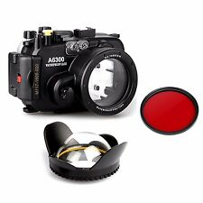 Sony A6300 130ft Underwater Camera Housing Case + Wide Angle Dome Port lens