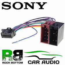 SONY MEX-N5100BT Car Radio Stereo 16 Pin Wiring Harness Loom ISO Lead Adaptor