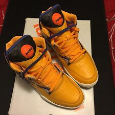 Reebok Pump OMNI ZONE RETRO US SIZE 9 Yellow Basketball Shoes!! New In Box!!