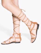 Mango Brown Gladiator Sandals Size 37 UK 4 Bnwt