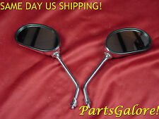 Universal Chrome Oval Motorcycle Scooter Mirrors Mirror Set, 8mm thread