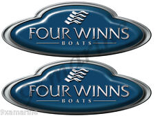 Two Four Winns Oval Name Plate Decals- Generic