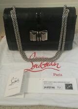 CHRISTIAN LOUBOUTIN SWEET CHARITY BLACK NAPPA/PATENT LEATHER BAG: Auth, Preown