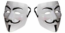 2 V For Vendetta Halloween Face Mask Anonymous Hacker Guy Fawkes Fancy Dress