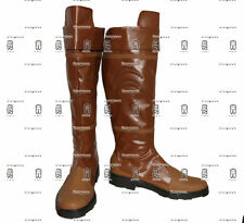 New The Legend of Zelda Link Anime Brown Cosplay Shoe Boots Any Size