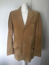 Gap Men's Tan Suede Leather Jacket Size Large