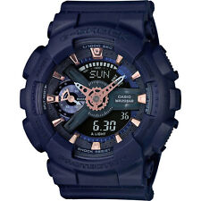Casio G Shock Blue Dial Resin Analog Digital Quartz Mens Watch GMAS110CM-2A