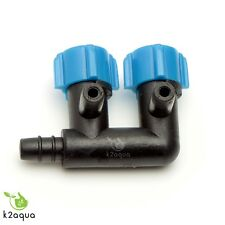 2 Way Air Flow Control Regulator Valve For Aquarium Fish Tank Pump Tube 4/6mm