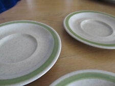 3 STATASTONE SAUCERS - STONEWARE - DISHES - PLATES - MADE IN JAPAN