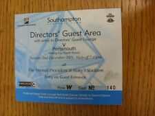 02/12/2003 Ticket: Southampton v Portsmouth [Football League Cup] Directors Gues