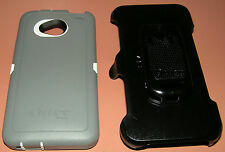 Otterbox Defender Case HTC One M7, with holster/belt clip, White & Gray, NEW