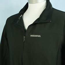 Rossignol Black Cervin Soft Shell Jacket Mens XL Wind Water Repell Ski Bike Hike