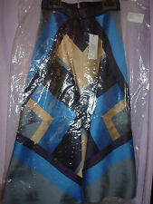 OSTWALD HELGASON new ladies skirt size 8 Mikado silk.THUNDER .lined rrp.£395