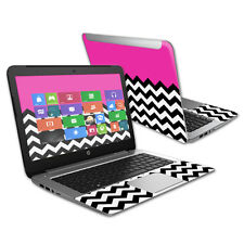 "Skin Decal Wrap for HP Stream 14"" (2015) Laptop cover sticker Hot Pink Chevron"