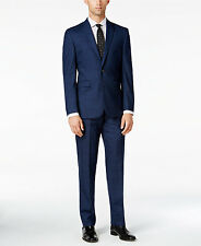$1295 VINCE CAMUTO Men BLUE SLIM-FIT TROUSERS PANTS SUIT WOOL BLAZER JACKET 40 R