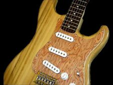 NEW COZART ELECTRIC GUITAR NATURAL ACCENTED WITH EXOTIC BIRDS EYE MAPLE PG