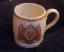 KING GEORGE V FIFTH QUEEN MARY SILVER JUBILEE MUG 1935 GREAT CONDITION RARE ITEM
