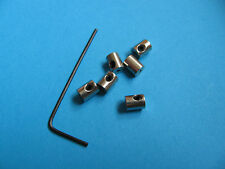 6 XL Badge Pin Keepers / Locks, replace butterfly back fixings. Extra Long 7mm.