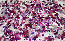 IT'S A GIRL DIY jewellery Arts Crafts 10pk Sequins Seed Bead Baby Shower PINK