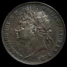 1821 George IV Milled Silver Secundo Crown – VF
