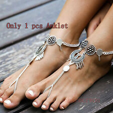 Women Ankle Chain Sexy Silver Anklet Bracelet Foot Sandal Barefoot Beach Jewelry