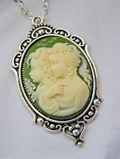 EASTER MOTHERS day SILVER GOLD CAMEO FAMILY NECKLACE CHILD TWINS SISTER GIFT MOM