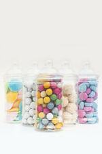 x 10  500ml Empty Plastic Small Sweet Jars Candy Buffet Wedding Storage