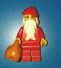 LEGO Santa Claus Minifigure & toy sack white grey beard glasses Stocking stuffer