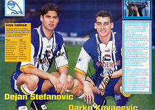 STEFANOVIC & KOVACEVIC SHEFF WED KIT HANDSIGNED 12 x 8 COLOUR MAGAZINE PICTURE