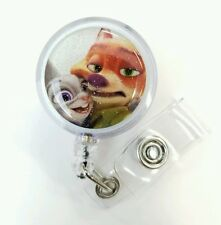 Disney's ZOOTOPIA Judy Hopps & Nick Wilde, Retractable Badge, Name Tag ID Holder