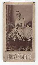 Ogdens Cigarette Tobacco Card Actresses Beauties Woodburytype 1890 Miss L Price