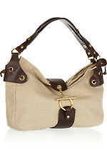 MARNI NATURAL CANVAS & BROWN LEATHER TOTE BAG BNWT MADE IN ITALY RETAIL £690