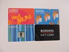 4 RARE BORDERS UK GIFT CARDS. NO VALUE. COLLECTORS ITEM