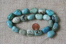 Blaue Afrikanische Opal-Strang(Nuggets) Q-5563/G