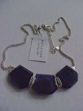 "NWT Silpada BLUE GROTTO Sterling Silver 925 Lapis Crystal Necklace 18-20"" HEAVY"
