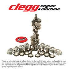 CHEVY 350-383 SCAT STROKER KIT, 2PC RS Hyper(Flat)Pist., I-Beam Rods