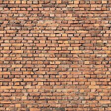 196 X 71 X 1MM HO TT SCALE BRICK WALL TREATED PAPER SHEETS EMBOSSED 3D