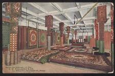 POSTCARD CHICAGO IL/ILLINOIS O.W. RICHARDSON ORIENTAL RUG STORE INTERIOR 1907