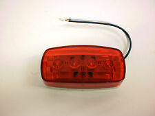 "1 - 2"" x 4"" Red 4 LED Bargman Marker Clearance Light 47-58-31 RV Trailer # 58"