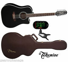 Takamine EF381SC 12-String Dreadnought NEW Acoustic w/ CASE + TUNER! EF-381