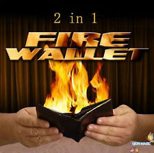 2 in 1 Fire Wallet - Magic Trick (leather),Fire Magic,HOT Flaming,Street,Stage