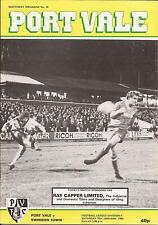 Football Programme - Port Vale v Swindon Town - Div 4 - 1983