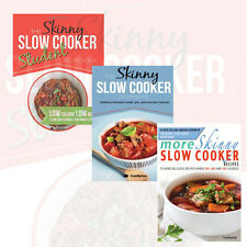 CookNation's Cookbooks Collection 3 Books Set The Skinny Slow Cooker Student
