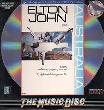 "ELTON JOHN - RARO LASER DISC 1987 "" LIVE IN AUSTRALIA """