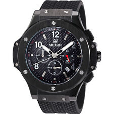 MEGIR Brand 3002B Military Sports Chronograph Watch with Silicone Belt For Men
